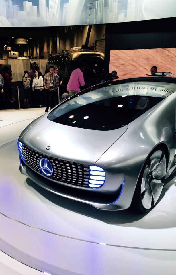 This self-driving Mercedes-Benz F015 concept car looks like it has been plucked off the set of a sci-fi film