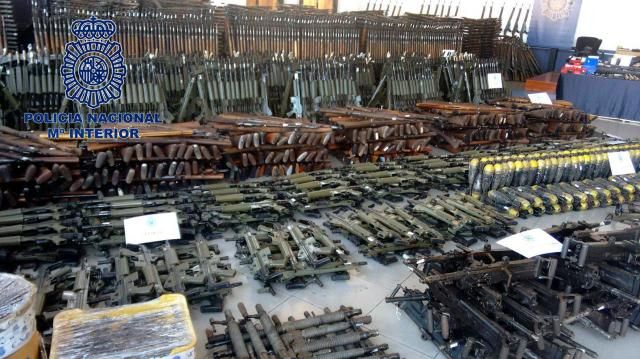 A terrifying haul of more than 10,000 weapons has been revealed by continent-wide police force Europol