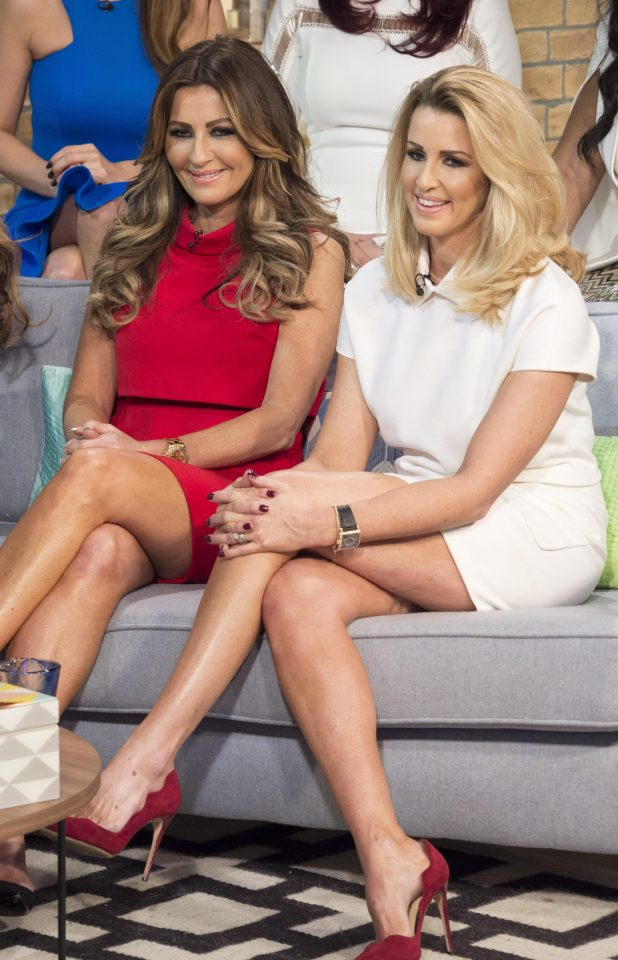 WAG Dawn Ward (left) is also a real housewife of Cheshire has been at war with Leanne Brown (right)