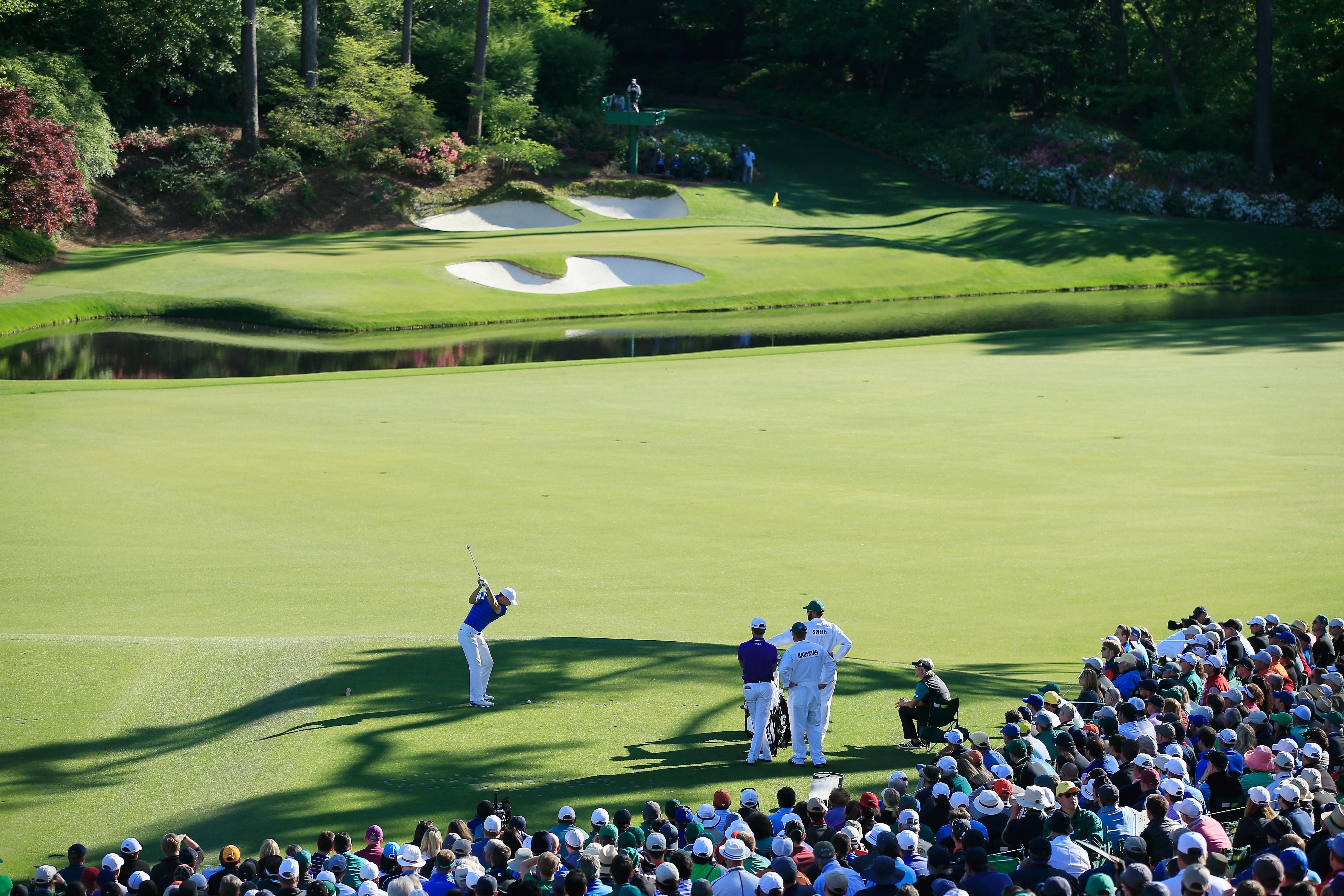 Amen Corner is the most famous stretch of holes at Augusta but viewers won't be able to see it non-stop