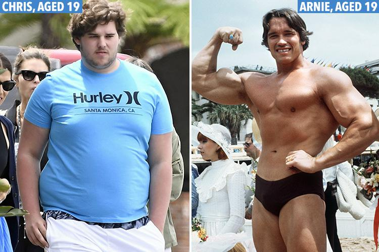 arnold schwarzenegger s 19 year old son looks noticeably different to the terminator star as a youngster