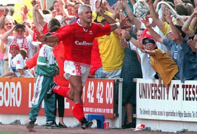 Fabrizio Ravanelli is a cult hero at Middlesbrough