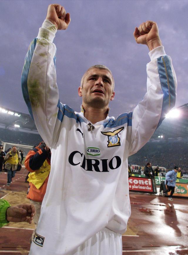 Italy striker Fabrizio Ravanelli was striker for Lazio in 2001