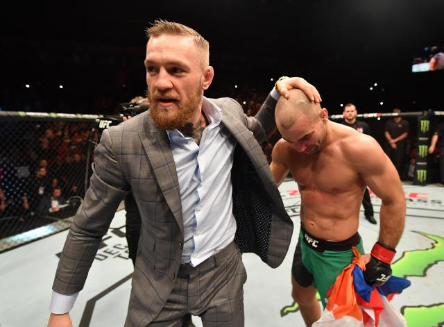 McGregor is usually in Lobov's corner but will miss his next fight as he prepares to become a dad