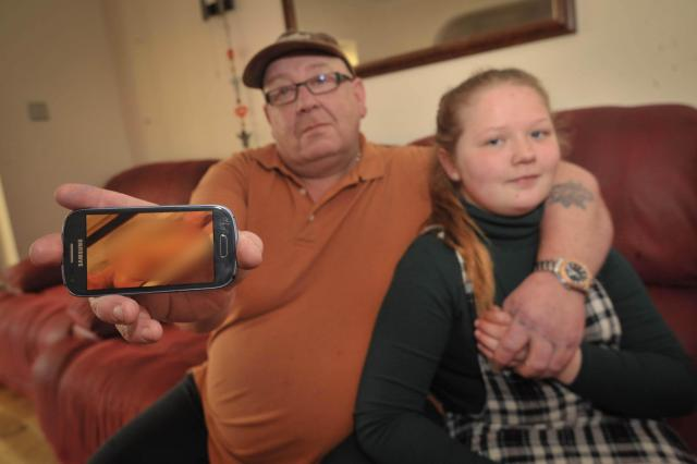 Carl Daly paid £50 for Rhiannon's Samsung on Friday, and she allegedly found the sordid images on the device