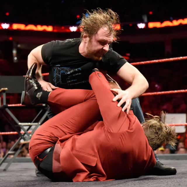 Dean Ambrose attacked the Miz after the two had some harsh words for eachother