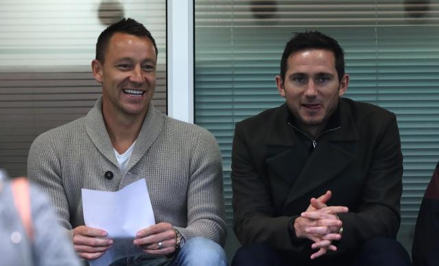 John Terry and Frank Lampard watched the second leg of the final