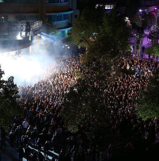 Electroland promises an open-air, LED-lit stage
