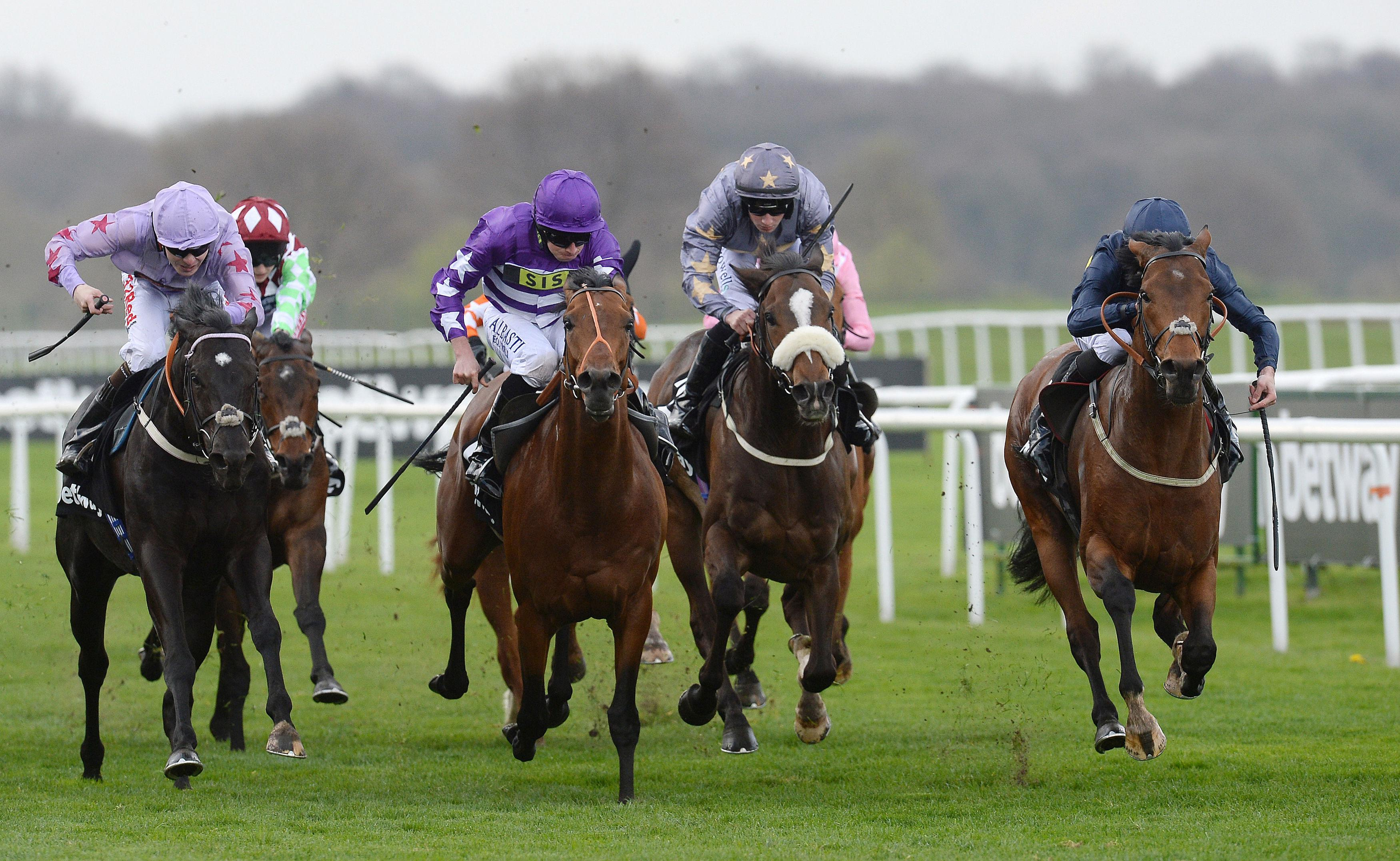 Bravery (right) gamely held on to give David O'Meara a first Lincoln victory last year