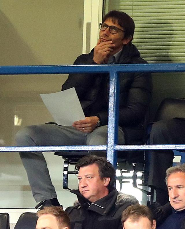 Antonio Conte watches on as Chelsea went in search of their third straight FA Youth Cup win