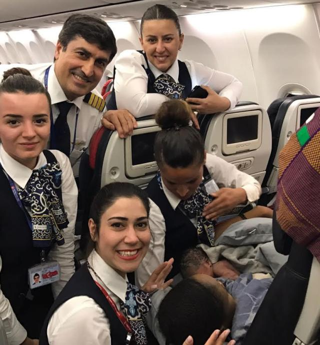 Image result for baby born in flight to istanbul