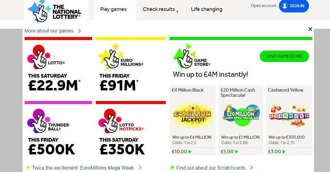 Health lottery prizes reduced lunch