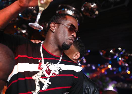 P-Diddy carried on the party late into the night