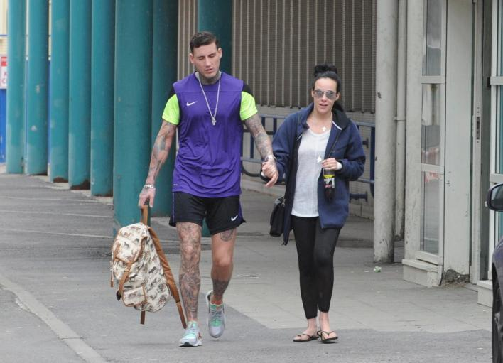 , Stephanie Davis and Jeremy McConnell back together AGAIN as they're spotted leaving hospital after she collapsed with mystery 'stress-related' illness, Premium News24