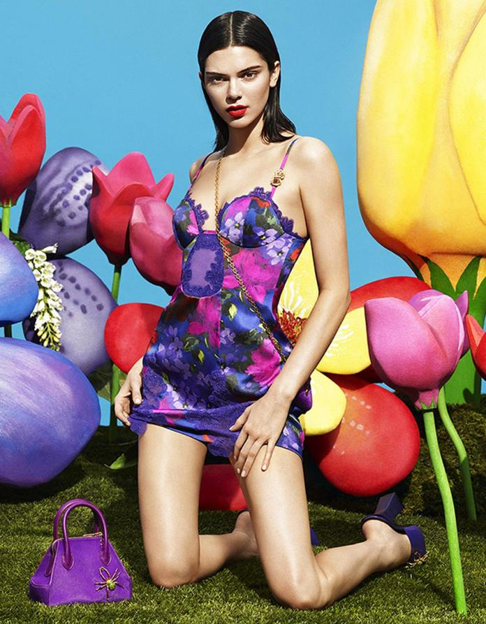 Kendall also wore a colourful slip dress