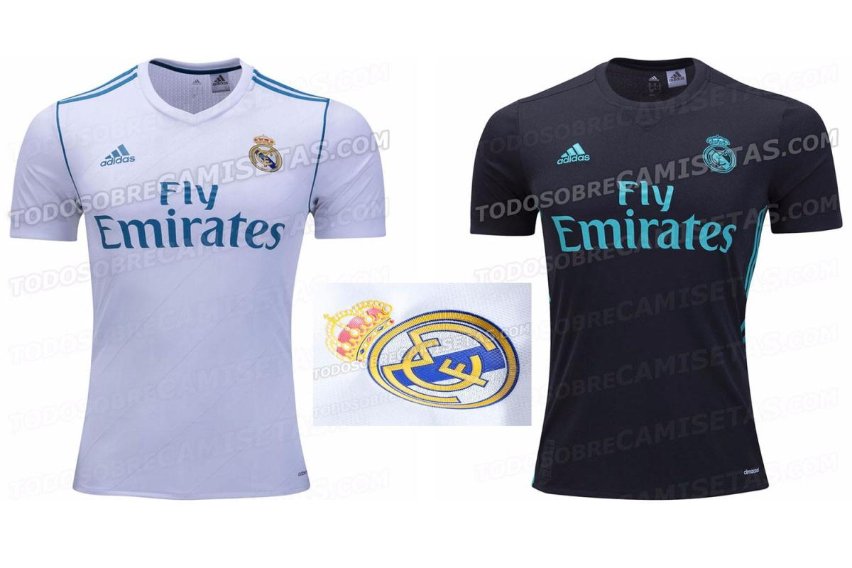 1de829db1 Real Madrid s new 2017-18 white home kit leaked onto internet hours after  Manchester United shirt emerges
