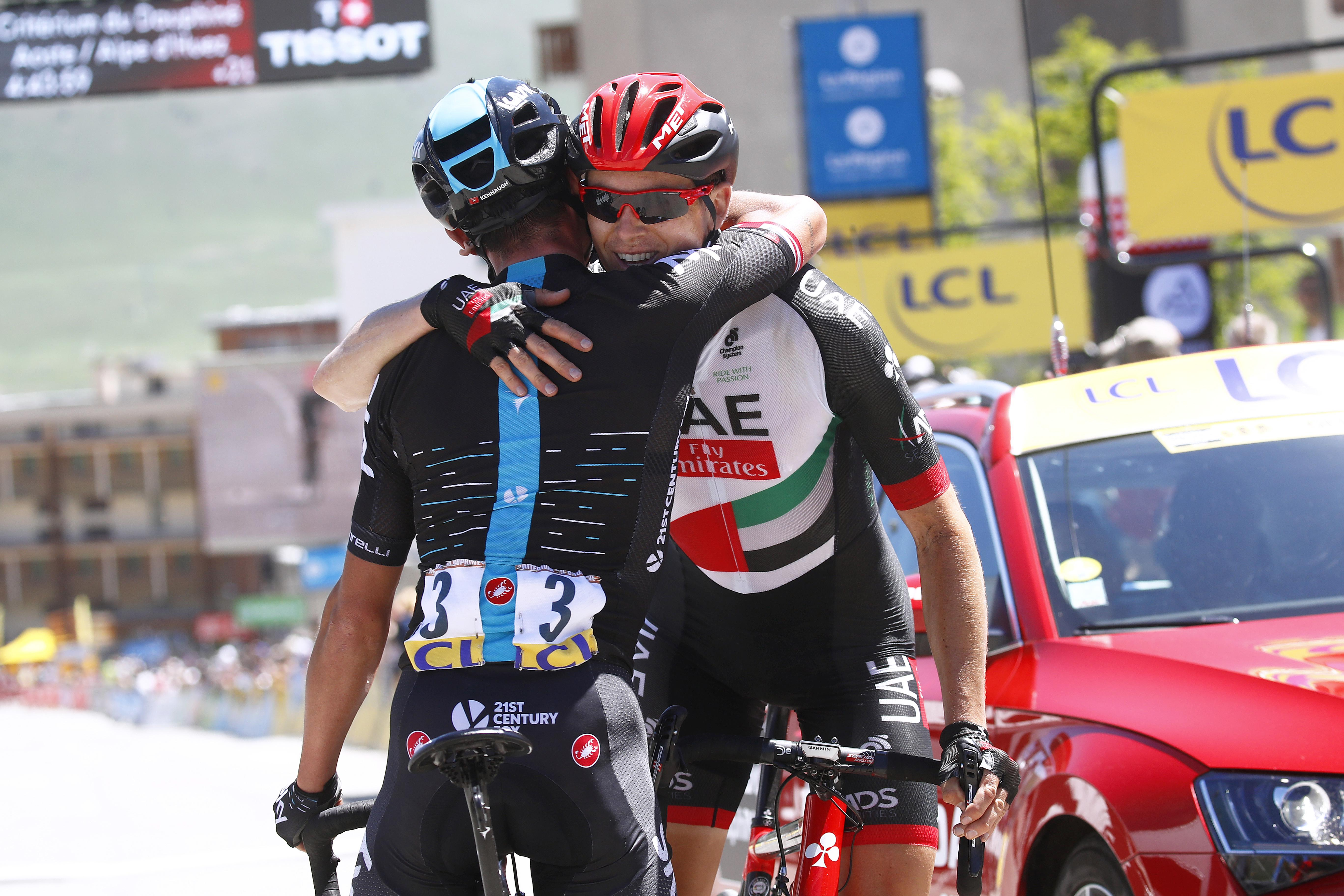 Pete Kennaugh and Ben Swift enjoyed finishing first and second on the iconic Alpe d'Huez