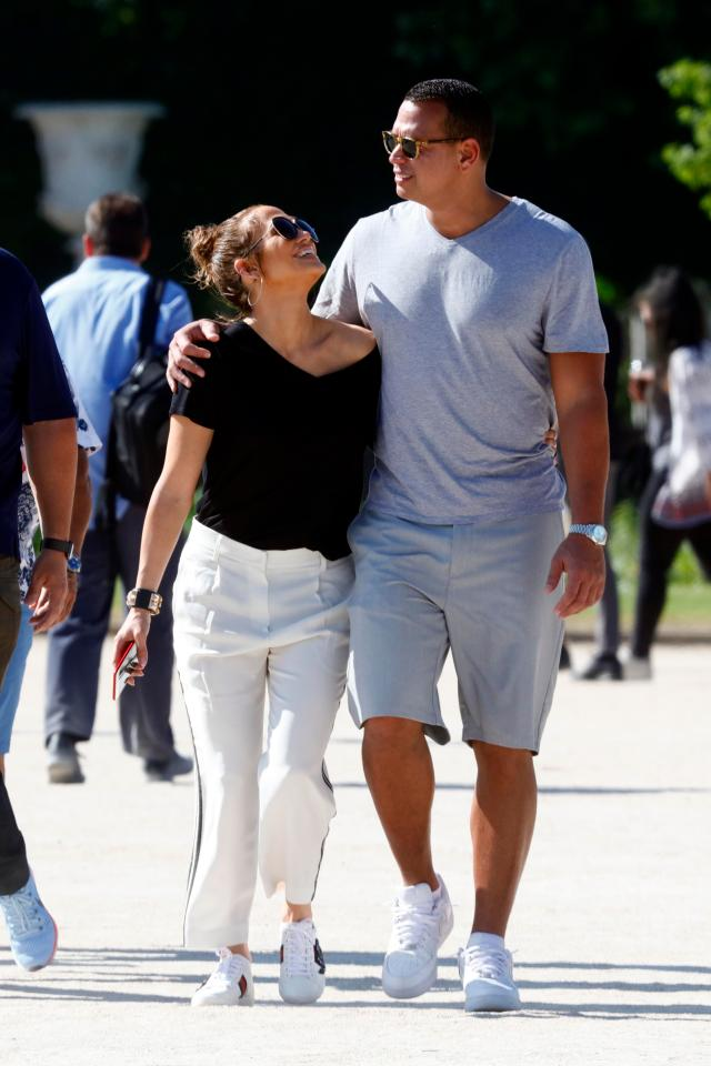 Jennifer Lopez and Alex Rodriguez were spotted looking cosy on a romantic Paris trip