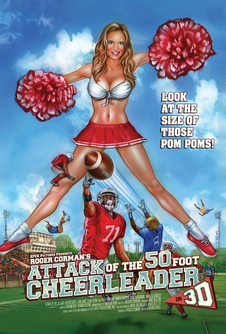 Jena Sims was the star lead in 'Attack of the 50 foot cheerleader' - a 3D comedy horror film