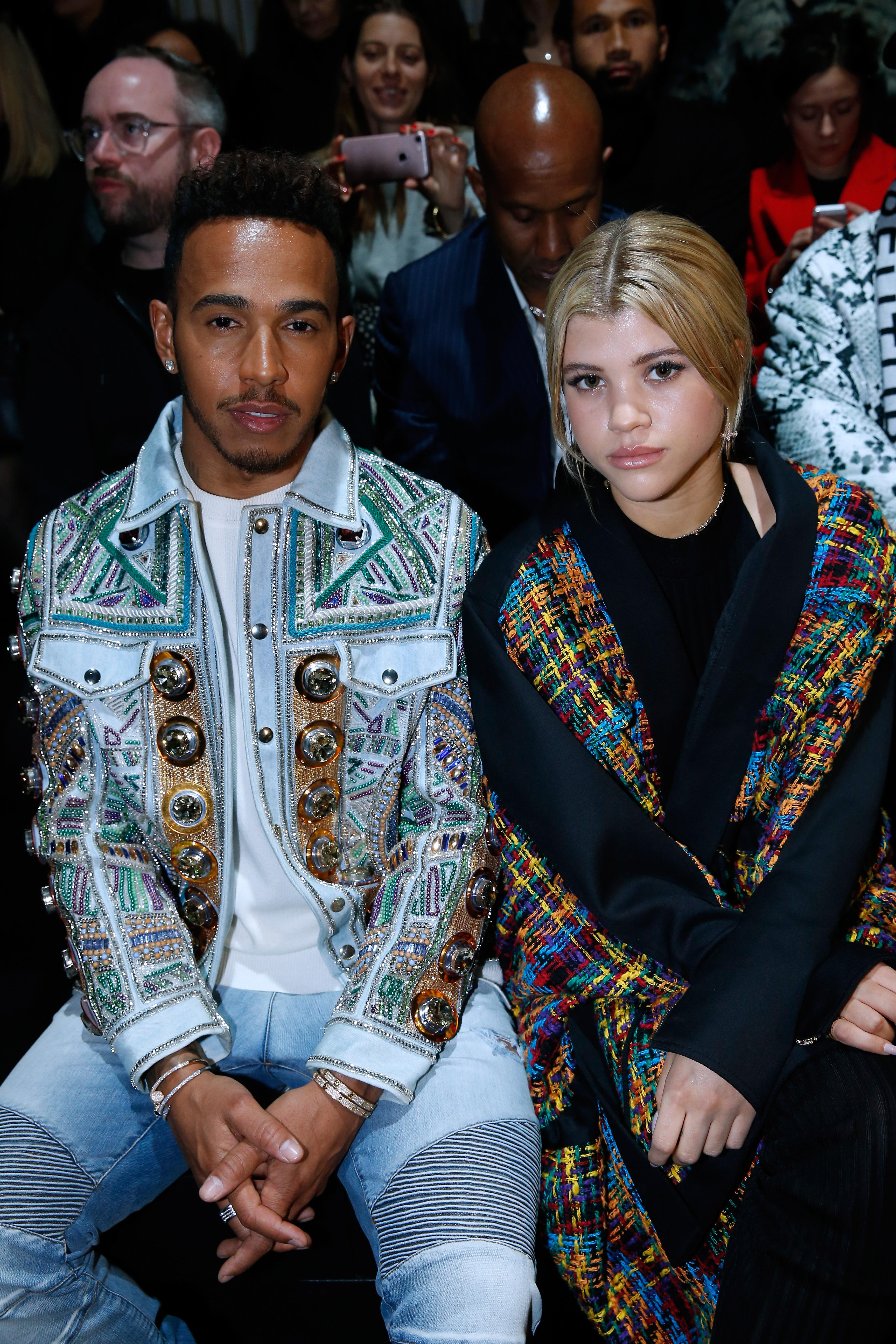 Lewis Hamilton was rumoured to be dating model Sofia Richie