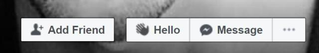 Facebook quietly introduced the new hello button on the site earlier this month