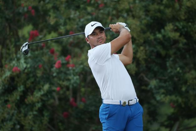 Jason Day fell seven shots off the lead with his final-hole disaster