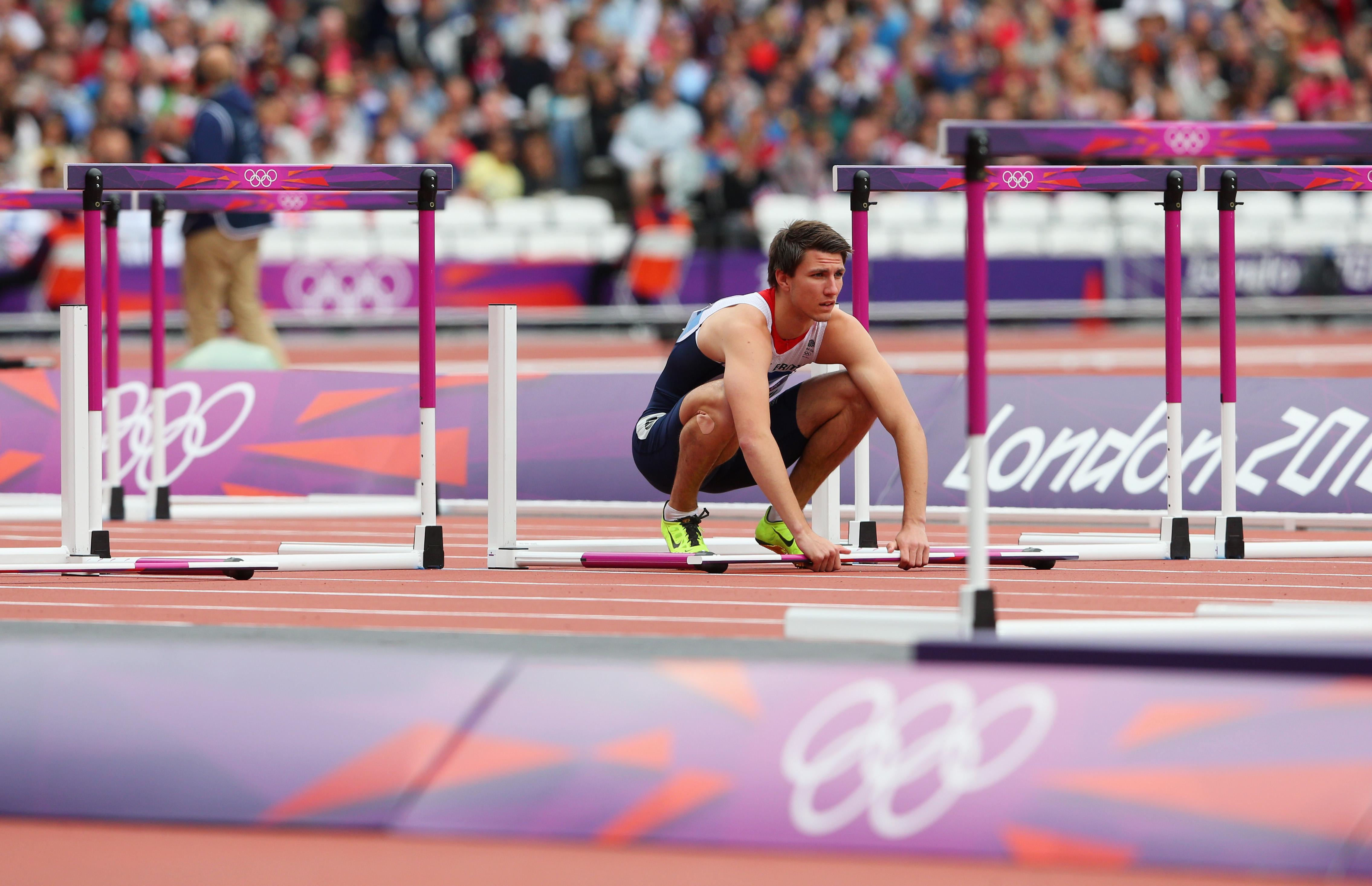 Pozzi suffered a hamstring injury as he set off from the blocks in the Olympics in 2012