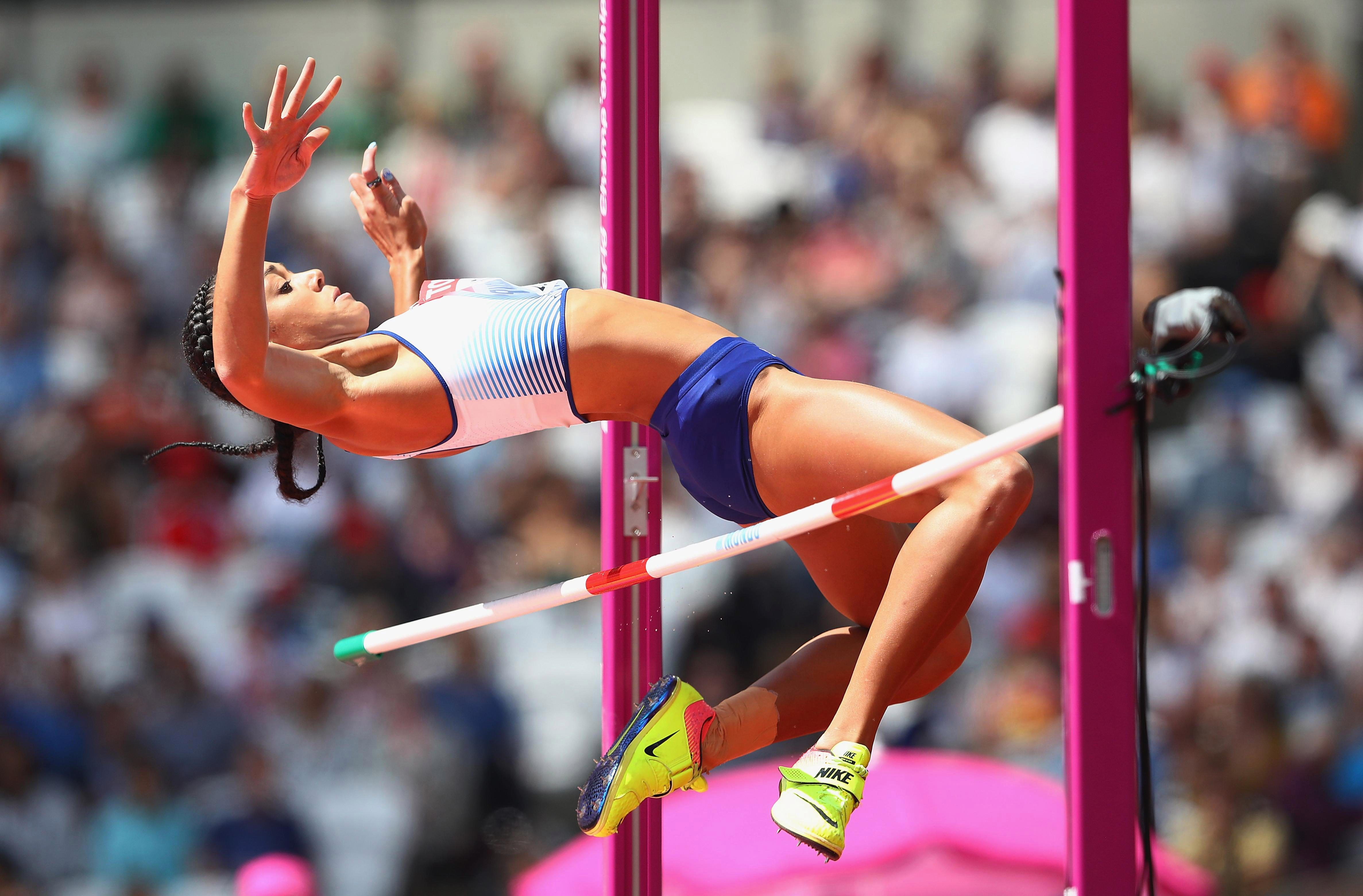 Katarina Johnson-Thompson has a personal best of 1.98m in the high jump