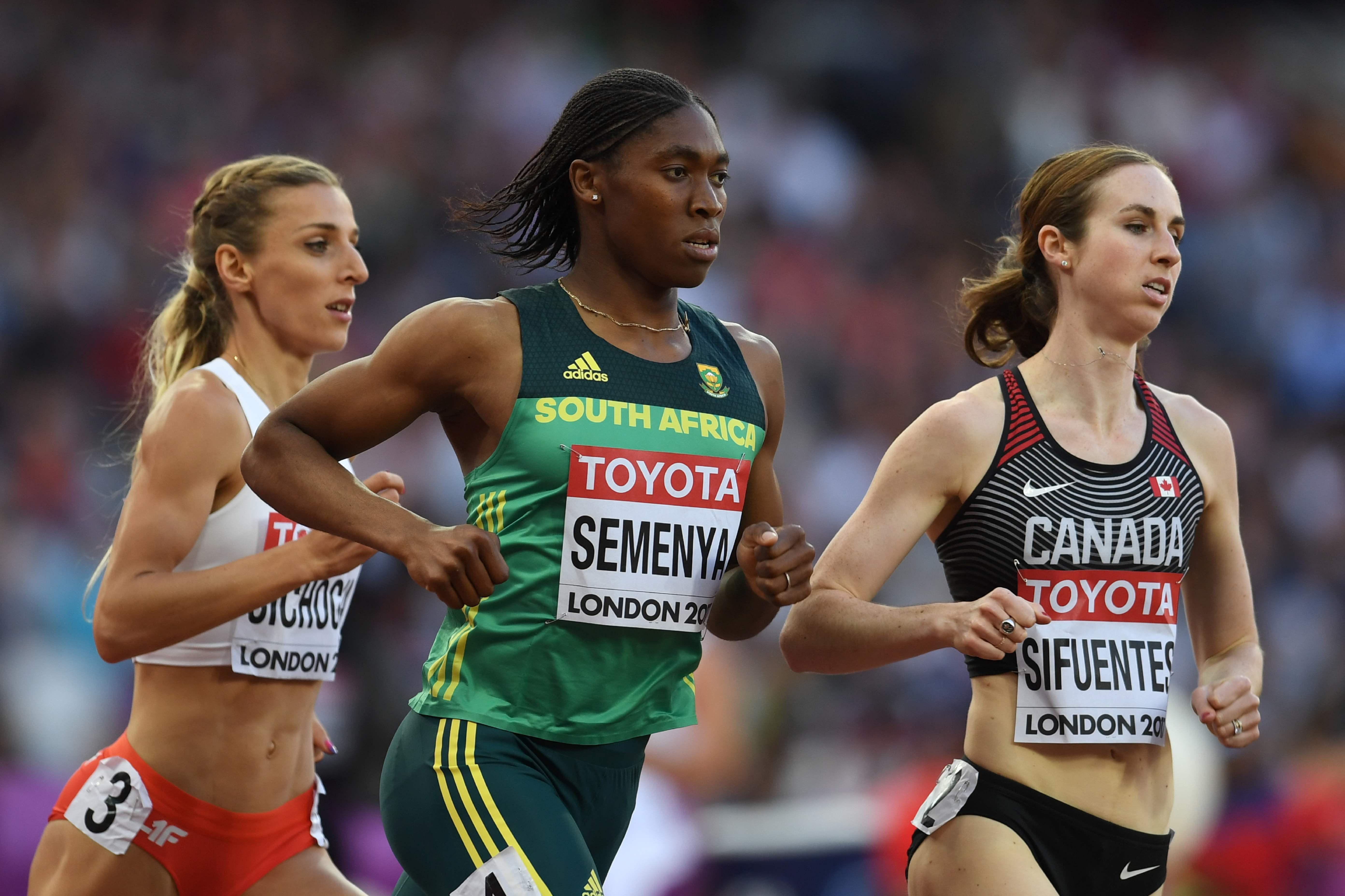 Caster Semenya in action for South Africa at the London World Championships