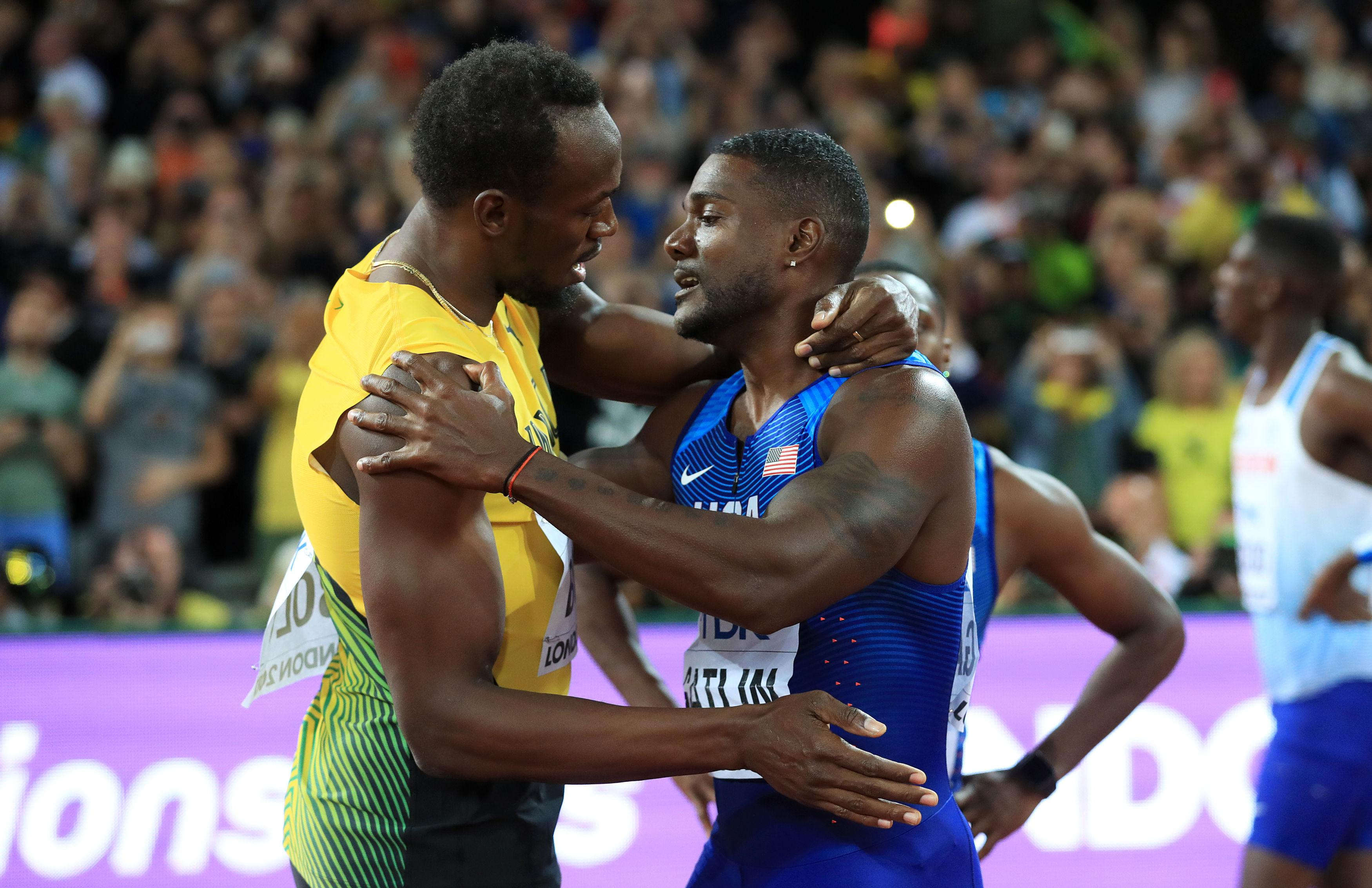 Gatlin won the 100m final as Bolt could only secure a bronze
