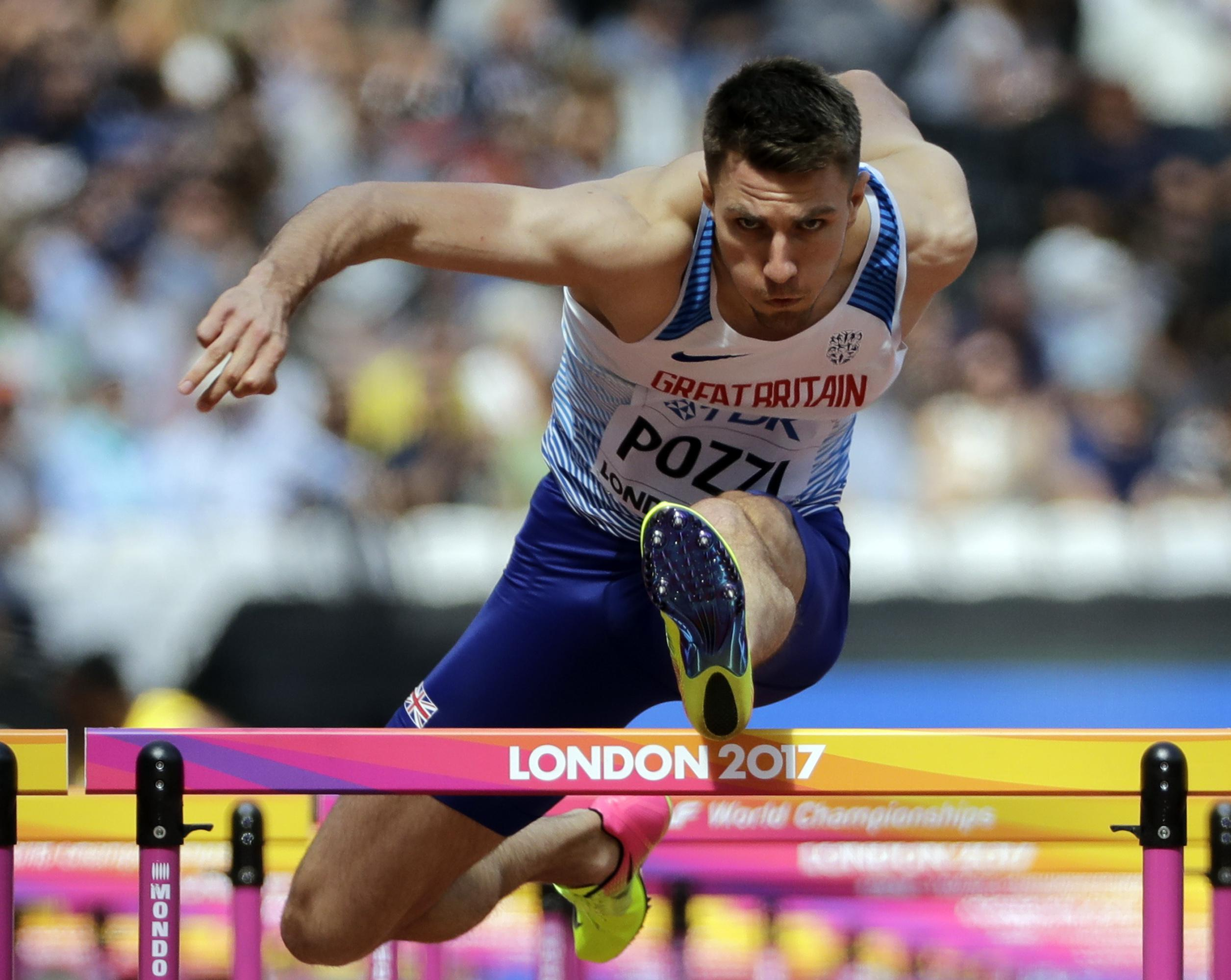 Pozzi looked impressive as he booked his place in the semi-finals by winning his heat