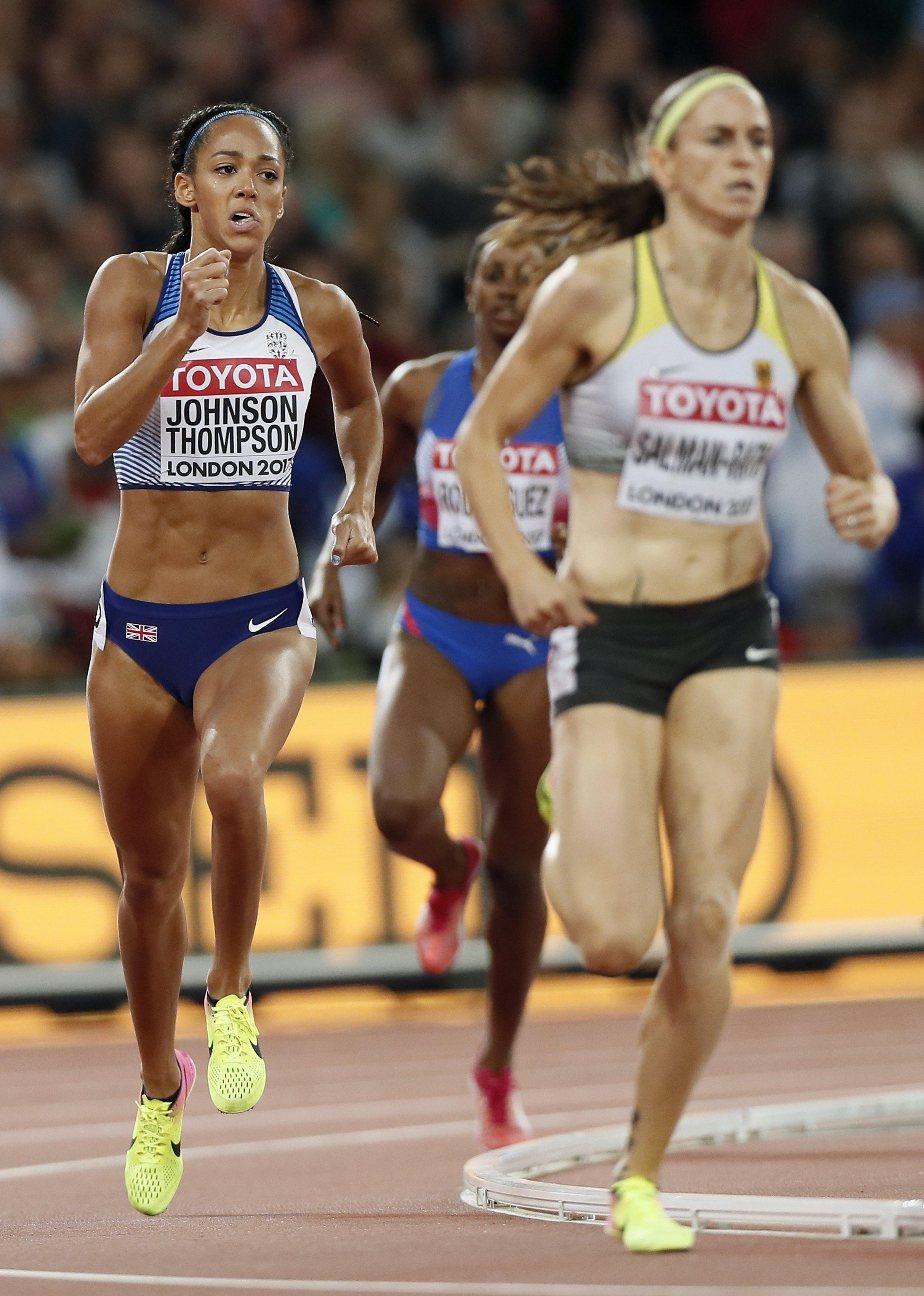 Johnson-Thompson ran a season's best in the 800metres but it sill wasn't enough