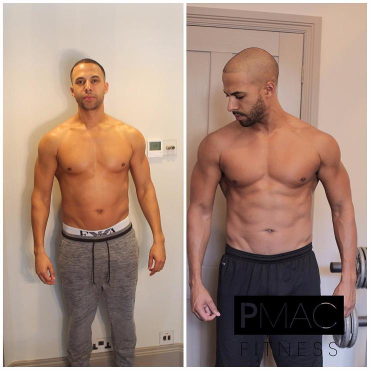 Marvin Humes shared this picture of his body transformation in August
