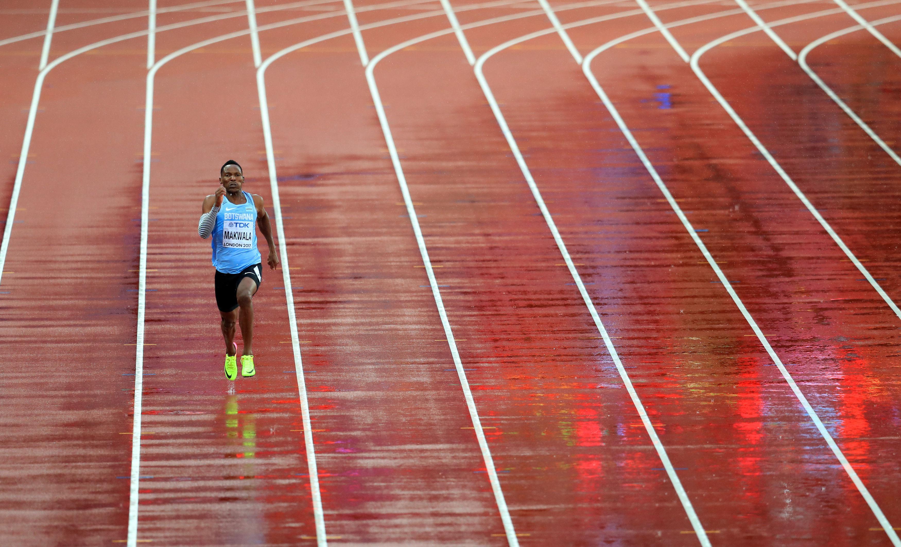 The spectators inside the London Stadium tonight where witness to Isaac Makwala running alone in the 200m