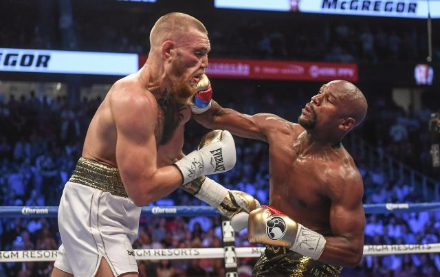 Floyd Mayweather beat Conor McGregor by TKO in the tenth round