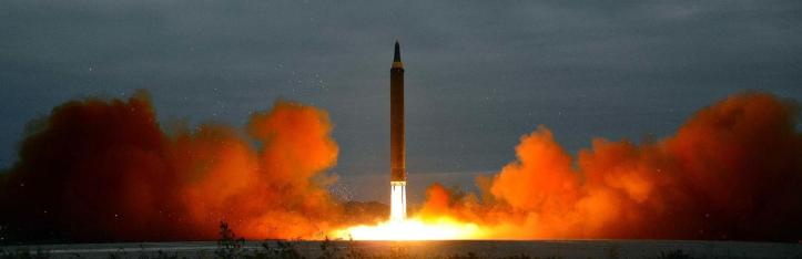 The Hwasong-12 intermediate range missile was launched from near Pyongyang