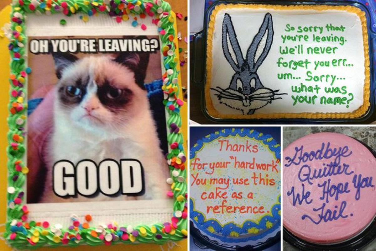 Here Are The Rudest Goodbye Cakes Given To Office Workers After They