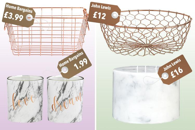 This Home Bargains copper range starts at just £1.99... and itu0027s the double of a John Lewis line thatu0027s three times the price  sc 1 st  The Sun & This Home Bargains copper range starts at just £1.99... and itu0027s the ...
