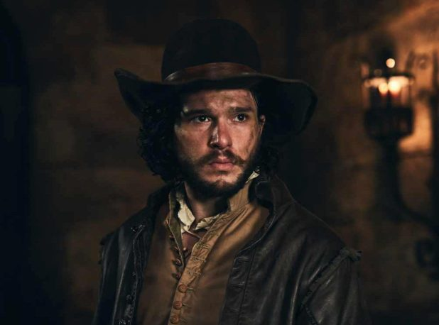 Game Of Thrones star Kit Harington is bringing his pout and facial hair to the role of Robert Catesby