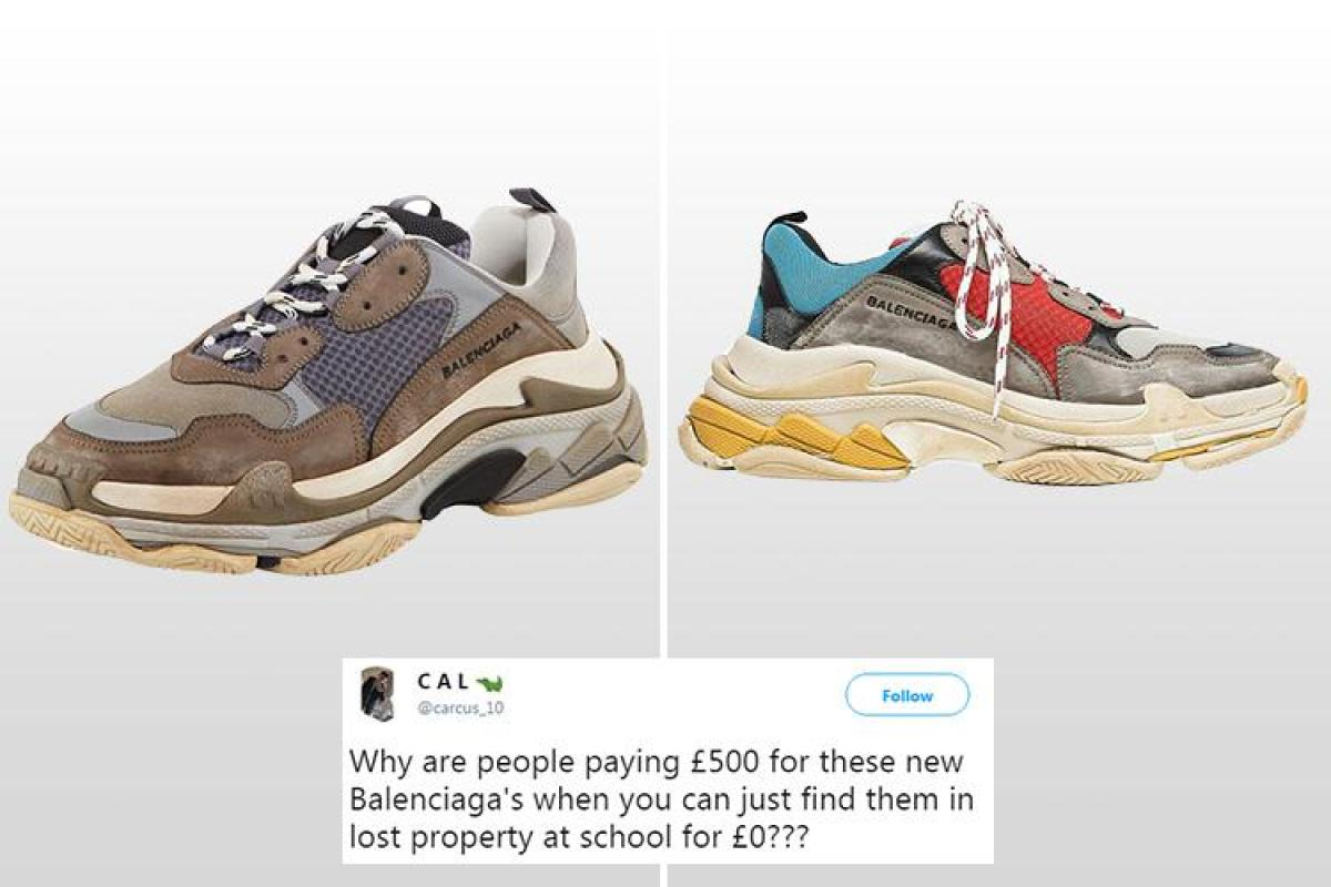 dad2d5687382 Balenciaga is launching a £500 range of trainers… but shoppers think they  look like  scruffy lost property  shoes