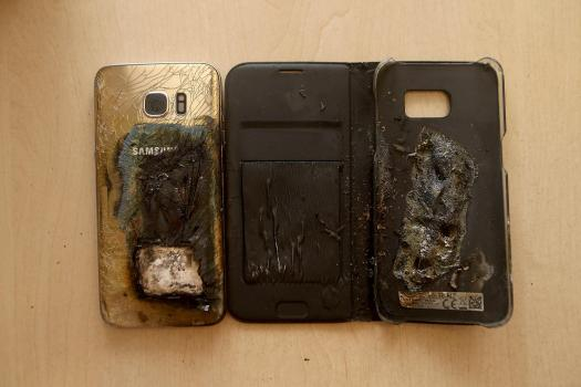 The burnt phone was picked up by Samsung to investigate