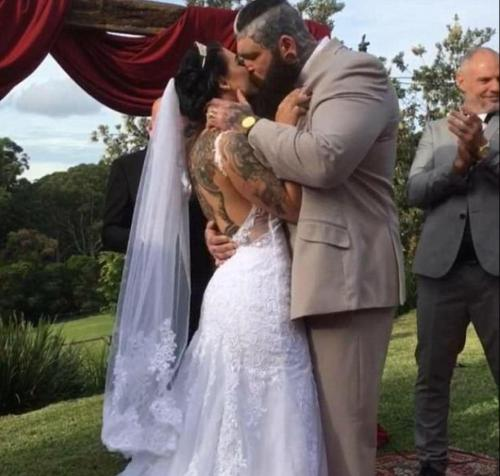 The professional powerlifter is accused of seducing and having sex with female clients while he was engaged - and is now married