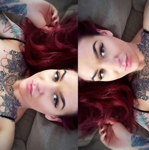 Tattoo fan Kayleigh is an active user of photo-sharing site Instagram