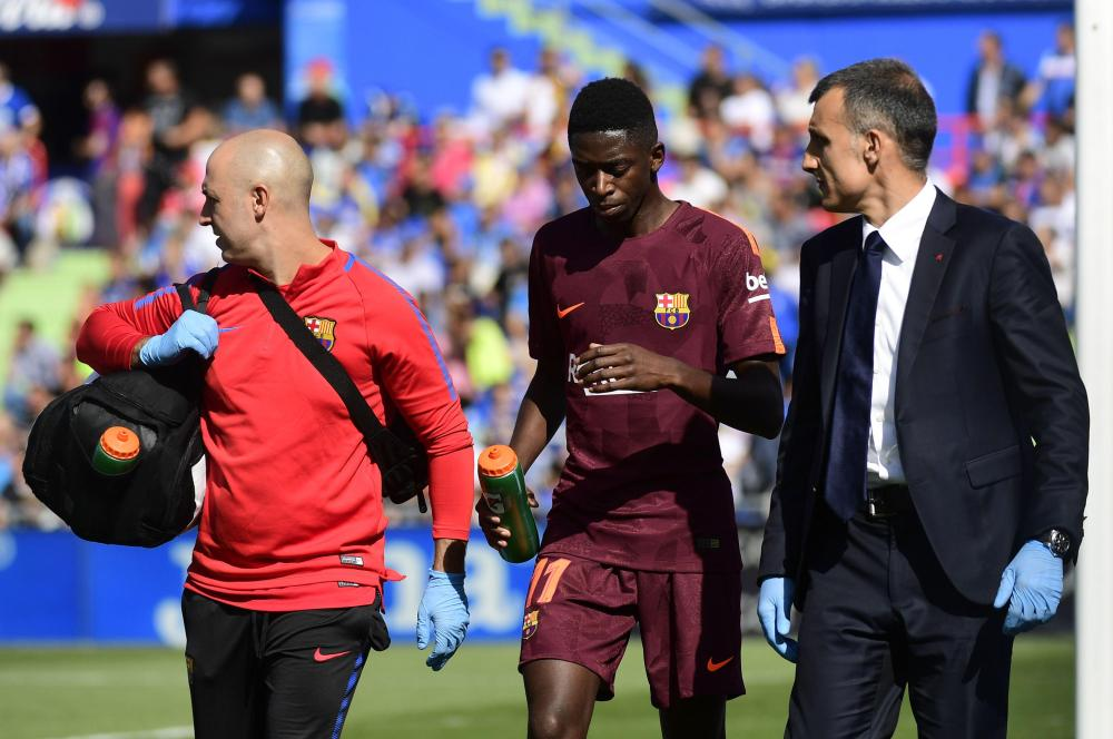 Image result for Ousmane dembele injured in Getafe Clash