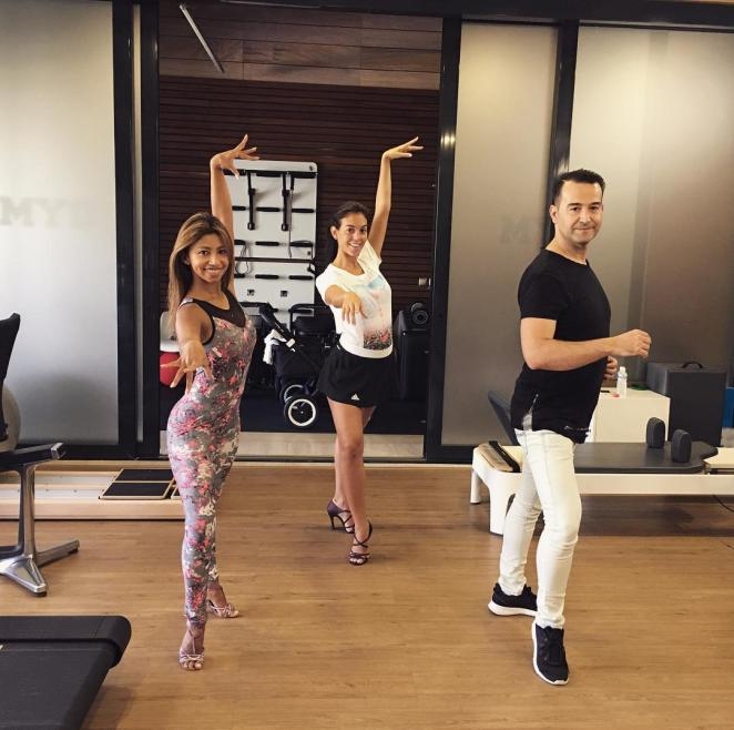 Image result for ronaldo pregnant girlfriend dancing salsa