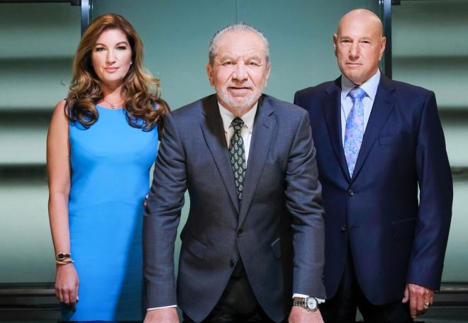 (L-R) Karen Brady, Lord Alan Sugar and Claude Littner