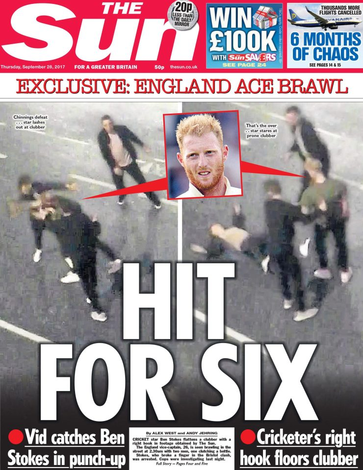 The fresh embarrassment comes just days after cricketer Ben Stokes was arrested for a punch-up in Bristol