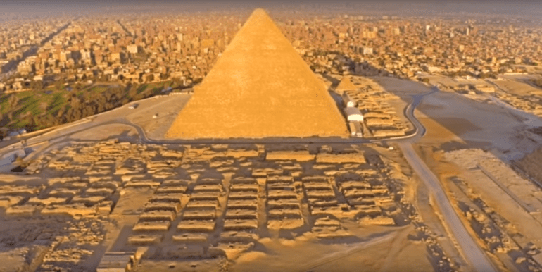 The Great Pyramid is the largest in Giza, Egypt, and was built in 2600BC