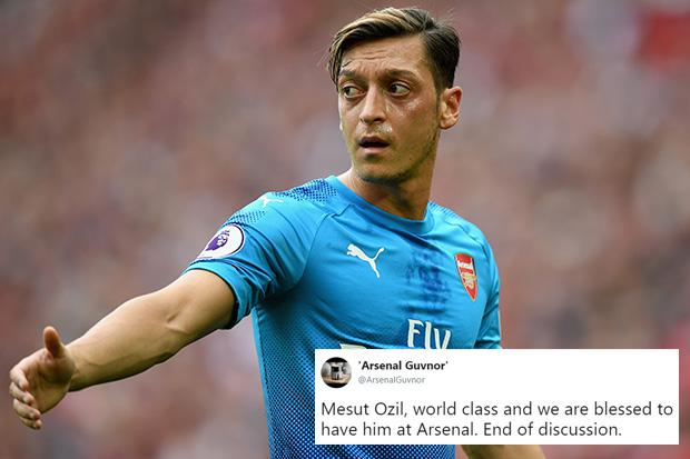 Arsenal fans jump to defend under fire Mesut Ozil after German ace
