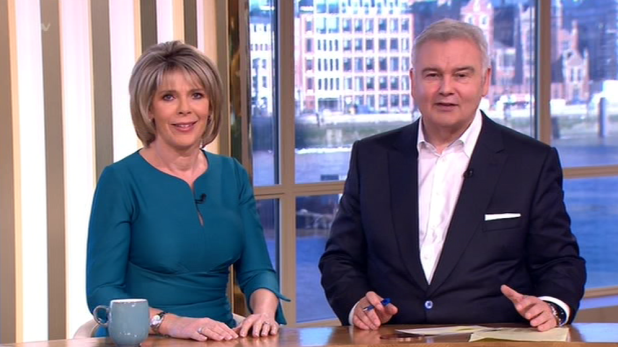 Eamonn Holmes celebrated his 31st anniversary of being a TV presenter on today's This Morning